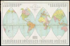 New World Map by Gleason U0027s New Standard Map Of The World Digital Commonwealth