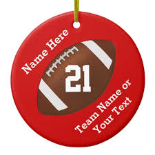personalized football ornaments name team number zazzle