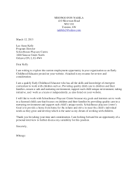 unique cover letter for early childhood educator 78 about remodel