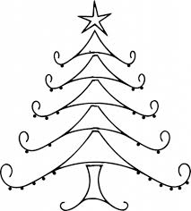 line drawing christmas tree part 24 coloring pages line drawing