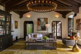 layered lighting living room mediterranean with adobe style home
