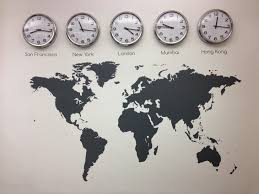 San Francisco On World Map by World Map Vinyl Wall Sticker Time Zones Clocks And Graphics