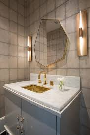 Powder Room Sink Modern Brass Powder Room Wall Scocnes Design Ideas