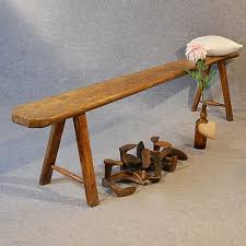antique bench seat long ash form quality rustic country victorian