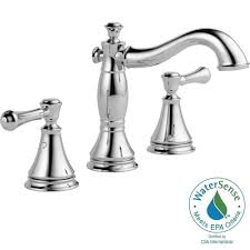 delta brass and chrome bathroom faucet