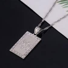 men s religious jewelry muslim islamic allah silver pendant necklace middle east women men s