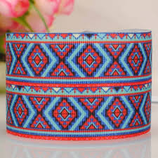 aztec ribbon 20y 1 25mm new hot beautiful aztec ribbon pattern printed