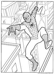 spider man color cartoon characters coloring pages spider