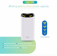 cager 5v 2 1a 6000mah blinking eyes power bank for iphone xiaomi