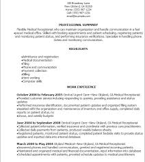 Receptionist Resume Templates Download Medical Front Desk Resume Haadyaooverbayresort Com