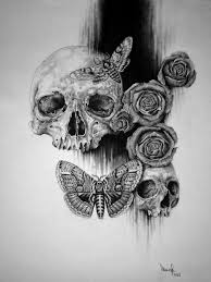 viewing gallery for how to draw skulls with roses skull u0027s
