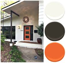 exterior paint palette for brick and siding on a split level mid