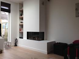 i like the design of this two sided fireplace for a funky shaped