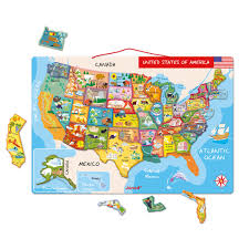 Iowa Usa Map by Amazoncom Janod Magnetic Usa Map Toys Games Janod Toys Magnetic