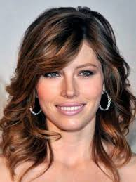brown to golden long hairstyles with bangs