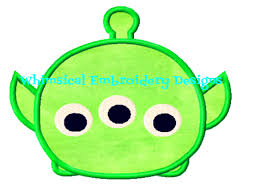 alien toy story tsum tsum machine embroidery applique design