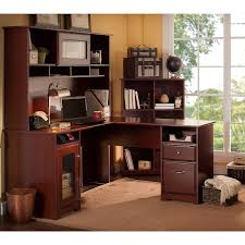 amazon com cabot l shaped desk with hutch and 6 cube bookcase