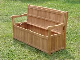Garden Bench With Storage Teak Storage Bench Seat Teak Furnitures Useful Teak