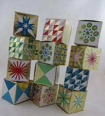 vintage norse craft ornaments 1956 fold up cardboard