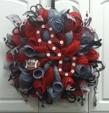 Alabama Football Home Decor 382 Best Football And Sports Deco Mesh Wreaths Images On Pinterest