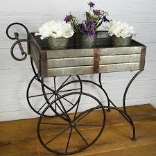 flower cart tin flower cart antique farmhouse