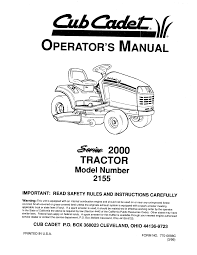 cub cadet lawn mower 2155 user guide manualsonline com