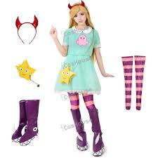 halloween boot covers anime u0027s princess star butterfly cosplay costume green dress
