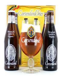 bicchieri birra belga confezione regalo corsendonk 2 bicchieri 1 birra hopt it