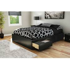 Box Bed Frame With Drawers Size Modern Platform Bed With 3 Storage Drawers In Black