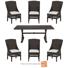 Home Depot Charlottetown Patio Furniture by Martha Stewart Living Charlottetown Natural 5 Piece All Weather