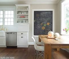 Benjamin Moore Dining Room Colors Cabinets Painted Bm Simply White Wall Behind Island Is Painted