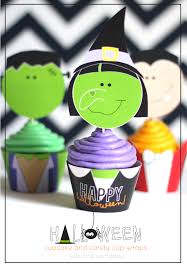 halloween cupcake and candy cup wraps free printable kiki
