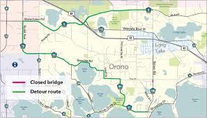 La Traffic Map Brown Road Bridge Reconstruction Hennepin County