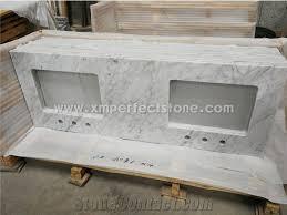 Carrara Marble Bathroom Countertops 2 3cm Carrara White Marble Bathroom Vanity Countertops With Sink