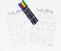 hand lettering practice worksheets lowercase letter