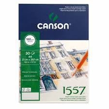 canson 1557 drawing paper pads greatart no 1 online art