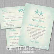 starfish wedding invitations berryberrysweet starfish wedding ideas