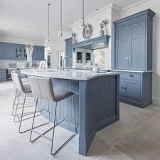 houzz blue kitchen cabinets 75 beautiful limestone floor kitchen with blue cabinets