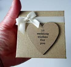 wedding wishes gift 10 wedding wishes for you personalised box of messsages for the