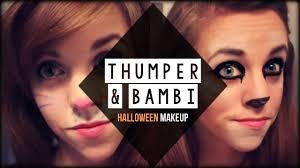 easy bambi thumper deer bunny inspired halloween makeup