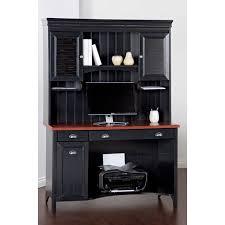 Sauder Edge Water Desk With Hutch by Black Desks Hayneedle