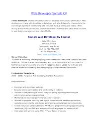 Php Developer Resume Resume Web Developer Resume