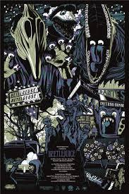 beetlejuice art by ken taylor mondo posters