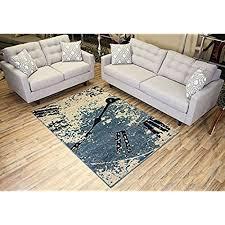 brown and teal area rug amazon com