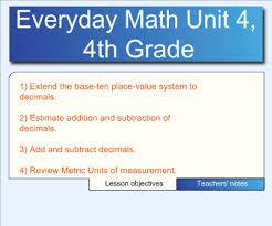 4th grade math lesson smart exchange usa 4th grade everyday math unit 4 lessons 1