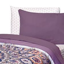 dusty purple college classic 3 piece twin xl sheet set dorm