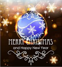 merry christmas happy new year card design 2017 free vector