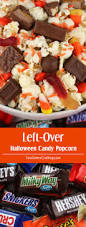 left over halloween candy popcorn two sisters crafting