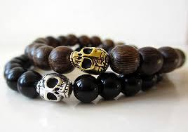 skull bracelet bead images Skull beaded bracelet wood beaded bracelet skull mens jpg