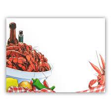 Blank Invitations Crawfish Bowl Invitation Mardigrasoutlet Com